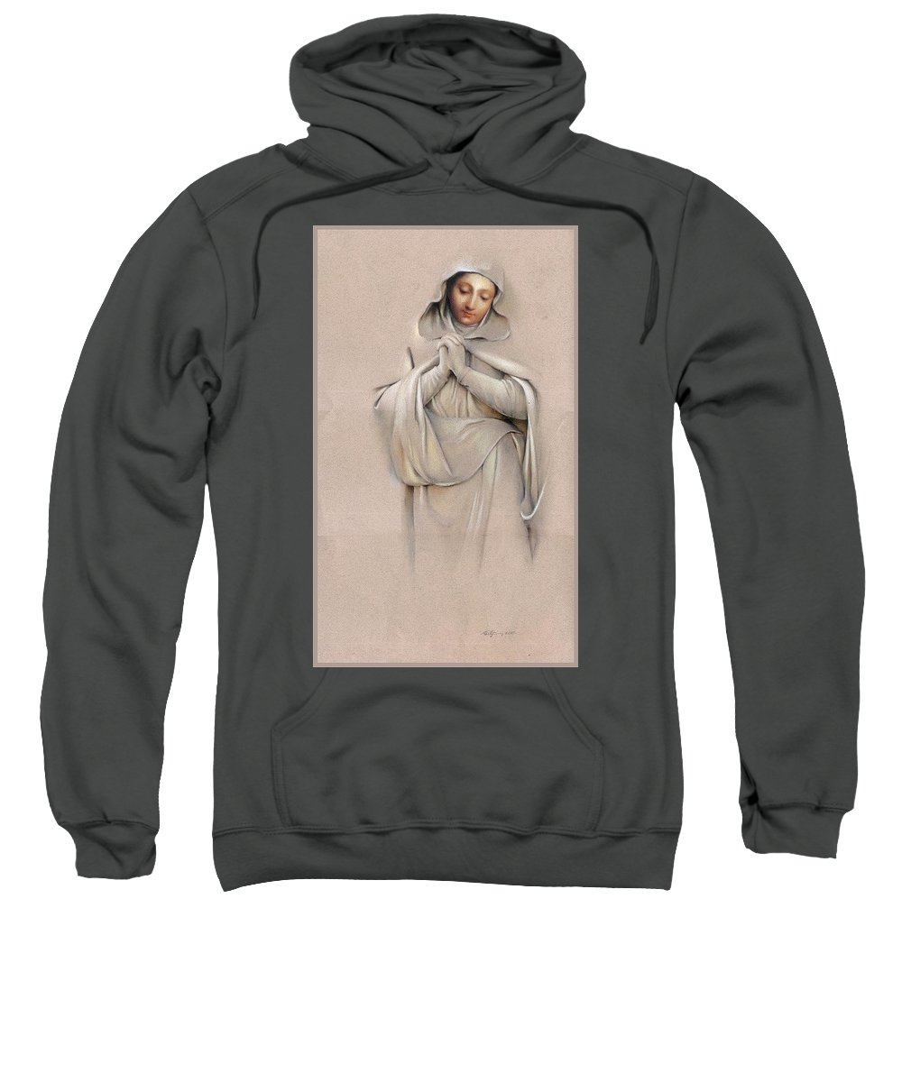 Ave Sweatshirt featuring the painting Ave by Aram Nersisyan