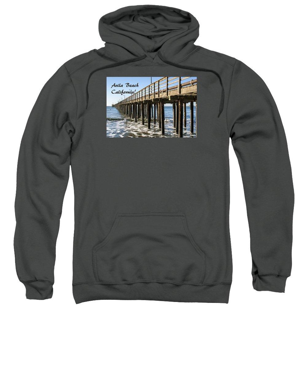Avila Pier Avila Beach California Sweatshirt featuring the painting Avila Pier Avila Beach California by Barbara Snyder