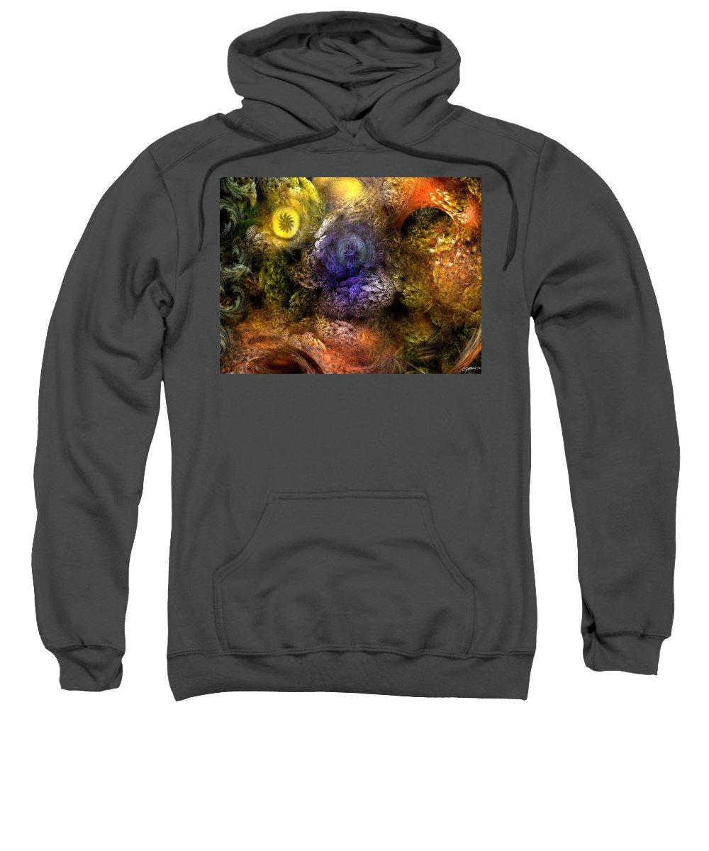 Abstract Sweatshirt featuring the digital art Awakening by Casey Kotas
