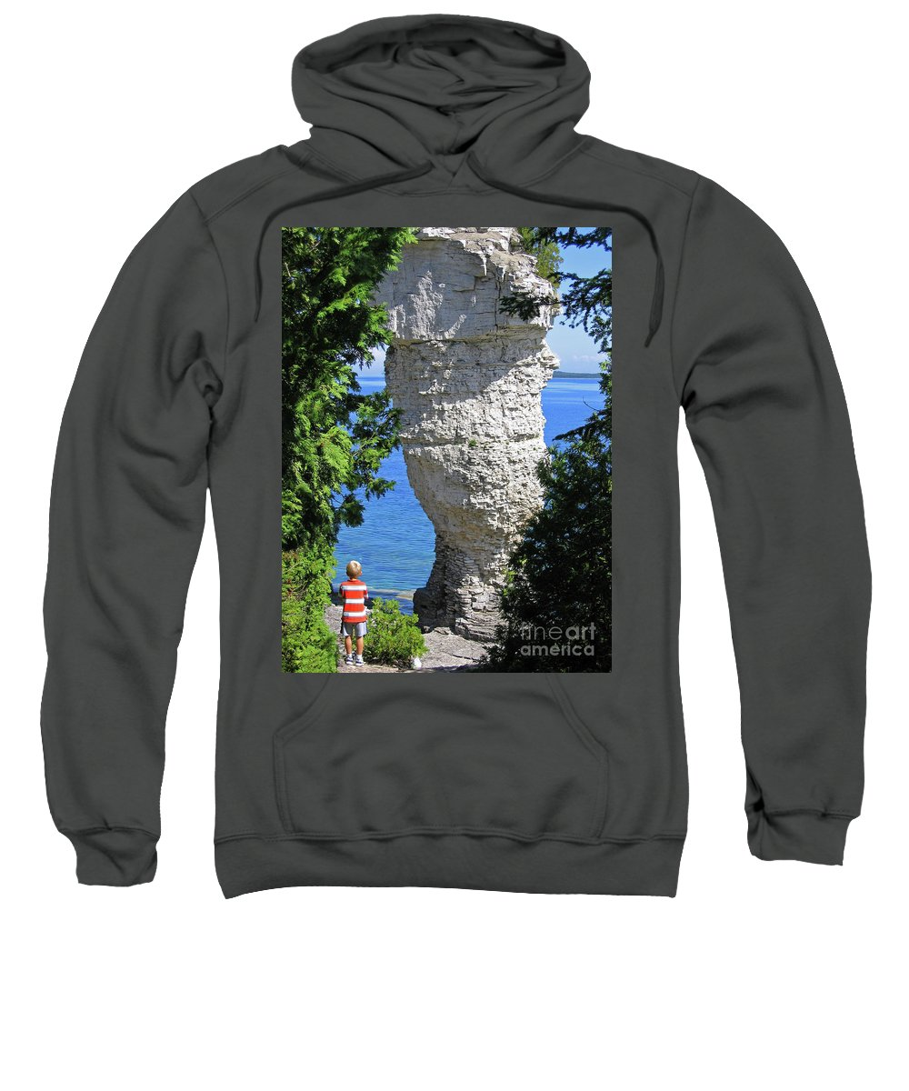 Stone Sweatshirt featuring the photograph Awesome All Around by Ann Horn