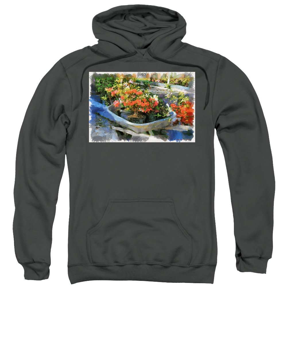 Azalea Sweatshirt featuring the photograph Azalea Sale by Paulette B Wright