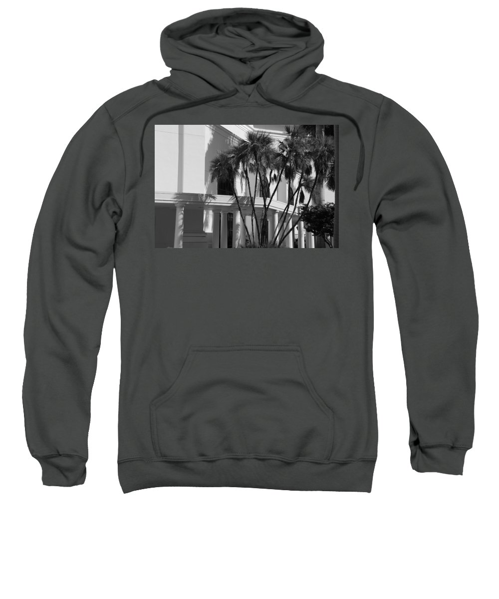 Black And White Sweatshirt featuring the photograph B S Post Modern..... by Rob Hans