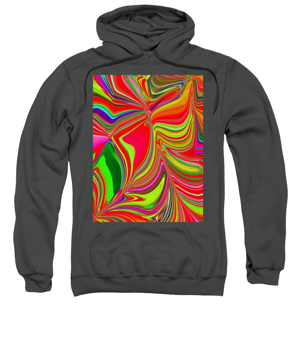 Abstract Sweatshirt featuring the photograph Ba Da Bloom 2 by Tim Allen