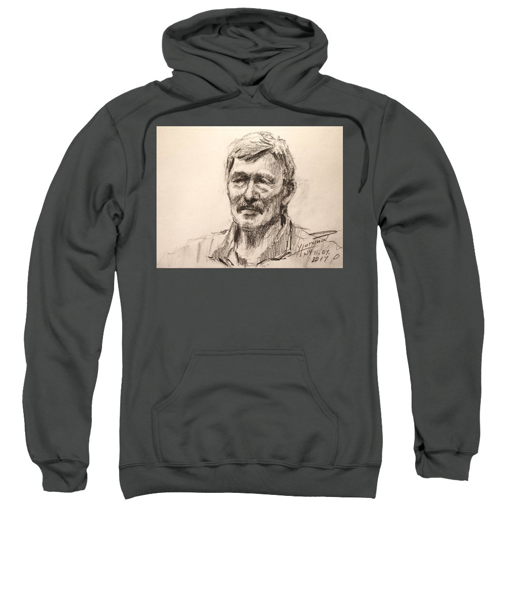 Sweatshirt featuring the drawing Bab by Ylli Haruni