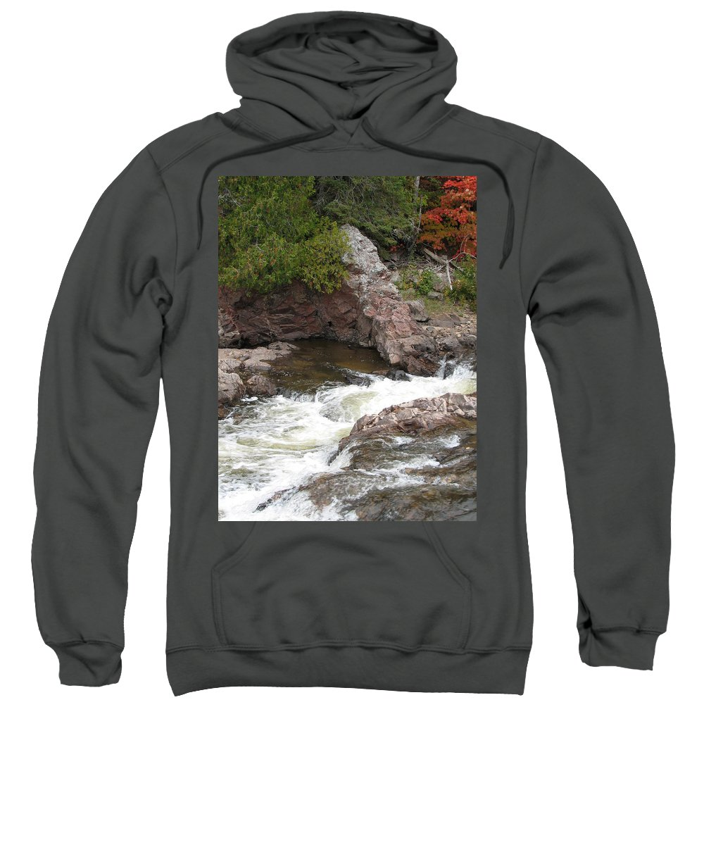 River Sweatshirt featuring the photograph Babbling by Kelly Mezzapelle