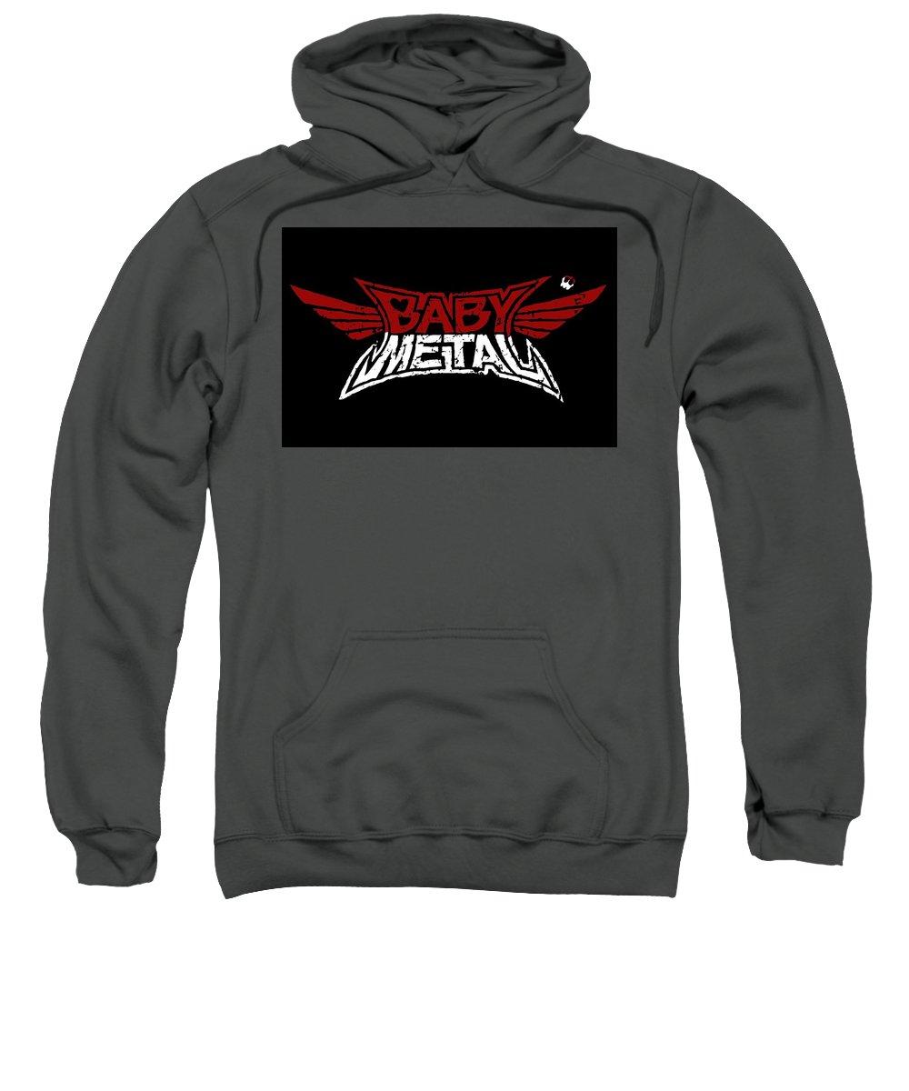 Babymetal Sweatshirt featuring the digital art Babymetal by Bert Mailer