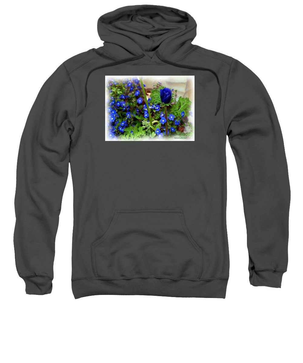 Fine Art Sweatshirt featuring the painting Babys Got The Blues by Patricia Griffin Brett