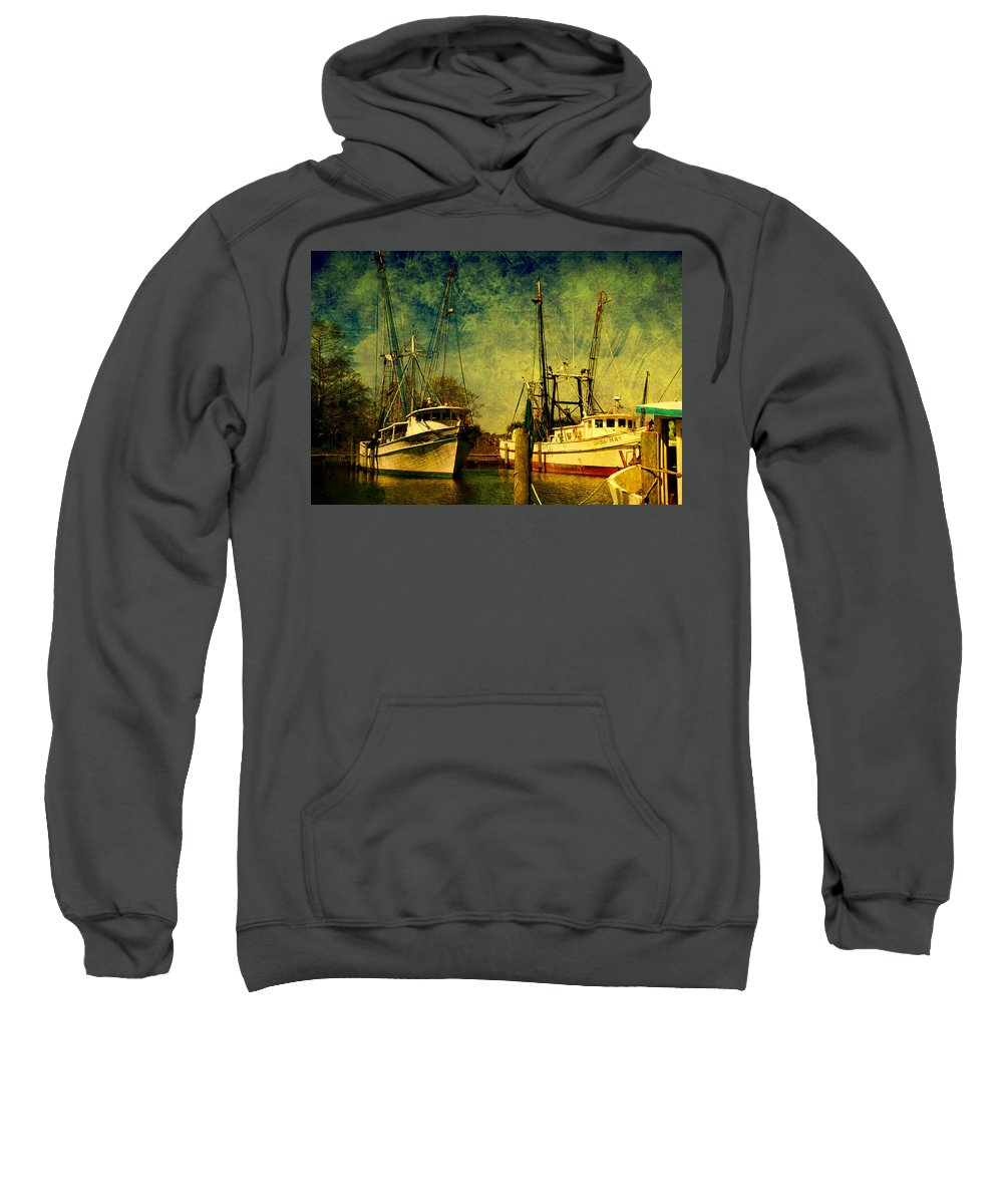 Harbor Sweatshirt featuring the photograph Back Home In The Harbor by Susanne Van Hulst