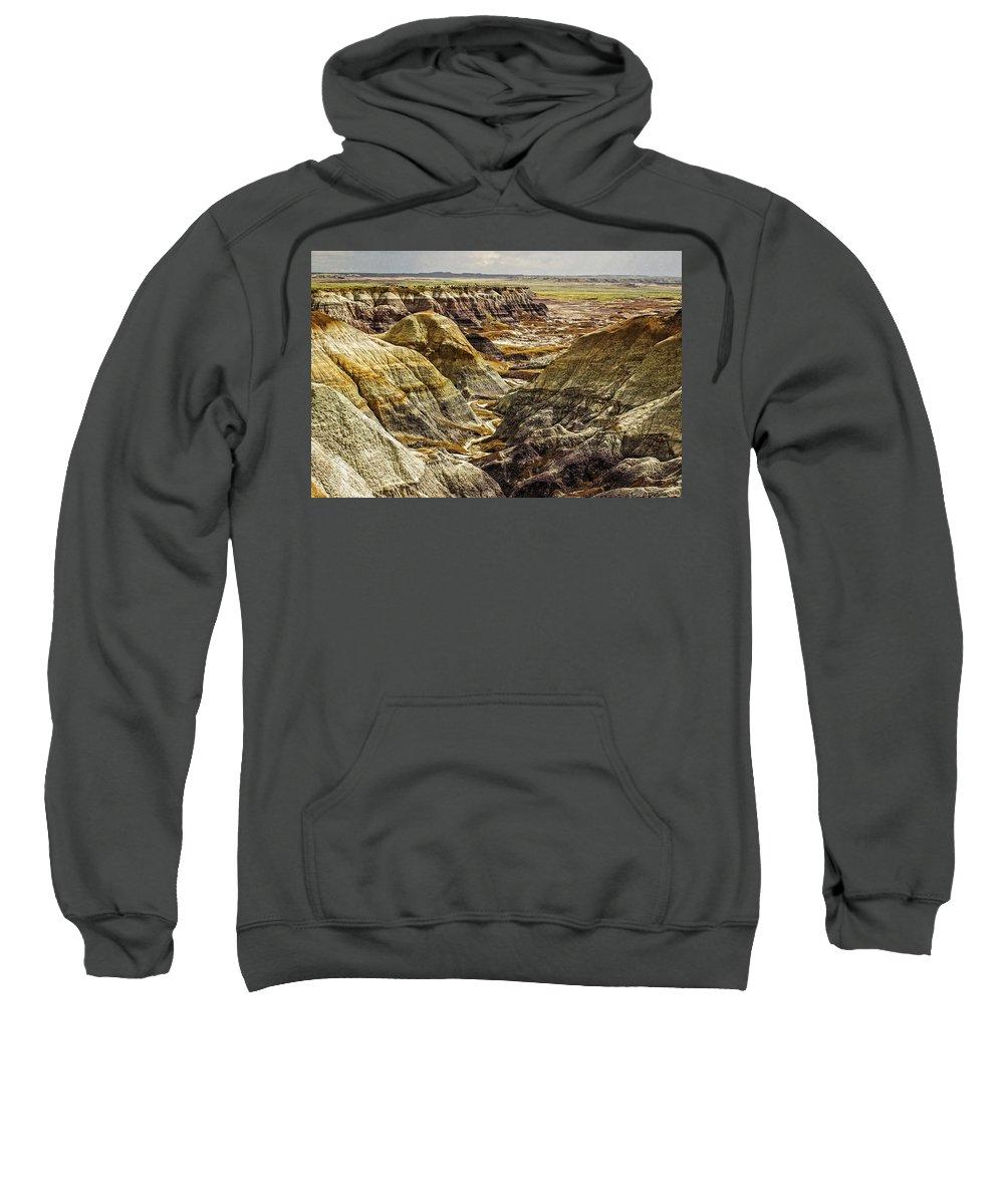 Badlands Sweatshirt featuring the photograph Badlands 1 by Ingrid Smith-Johnsen