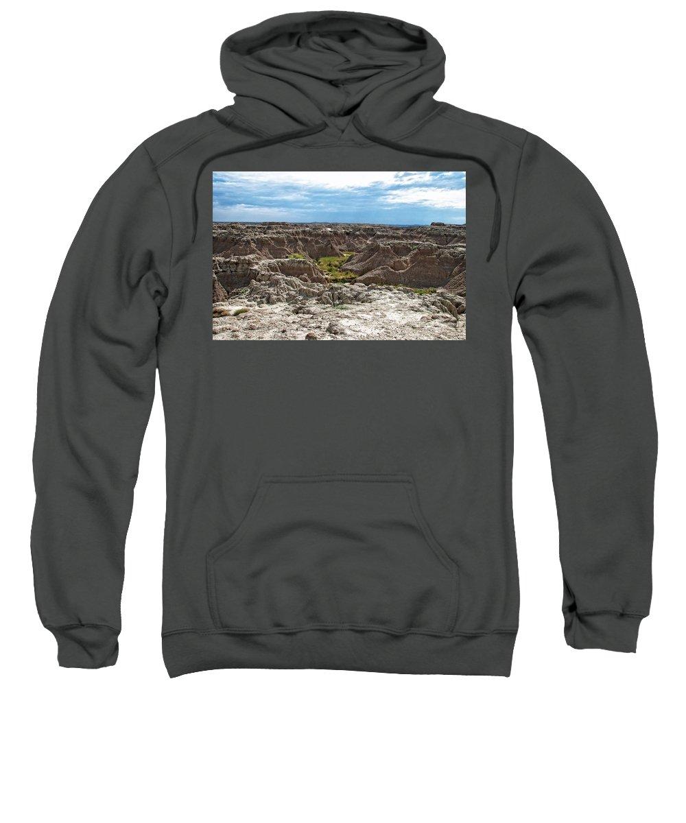 Badlands Sweatshirt featuring the photograph Badlands 8 by Ingrid Smith-Johnsen