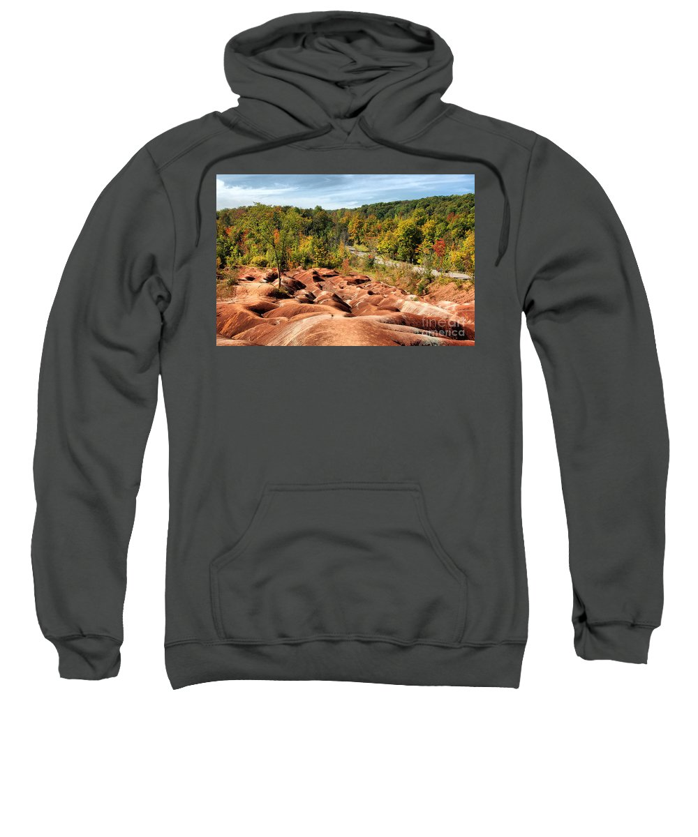 Badlands Sweatshirt featuring the photograph Badlands by Joe Ng