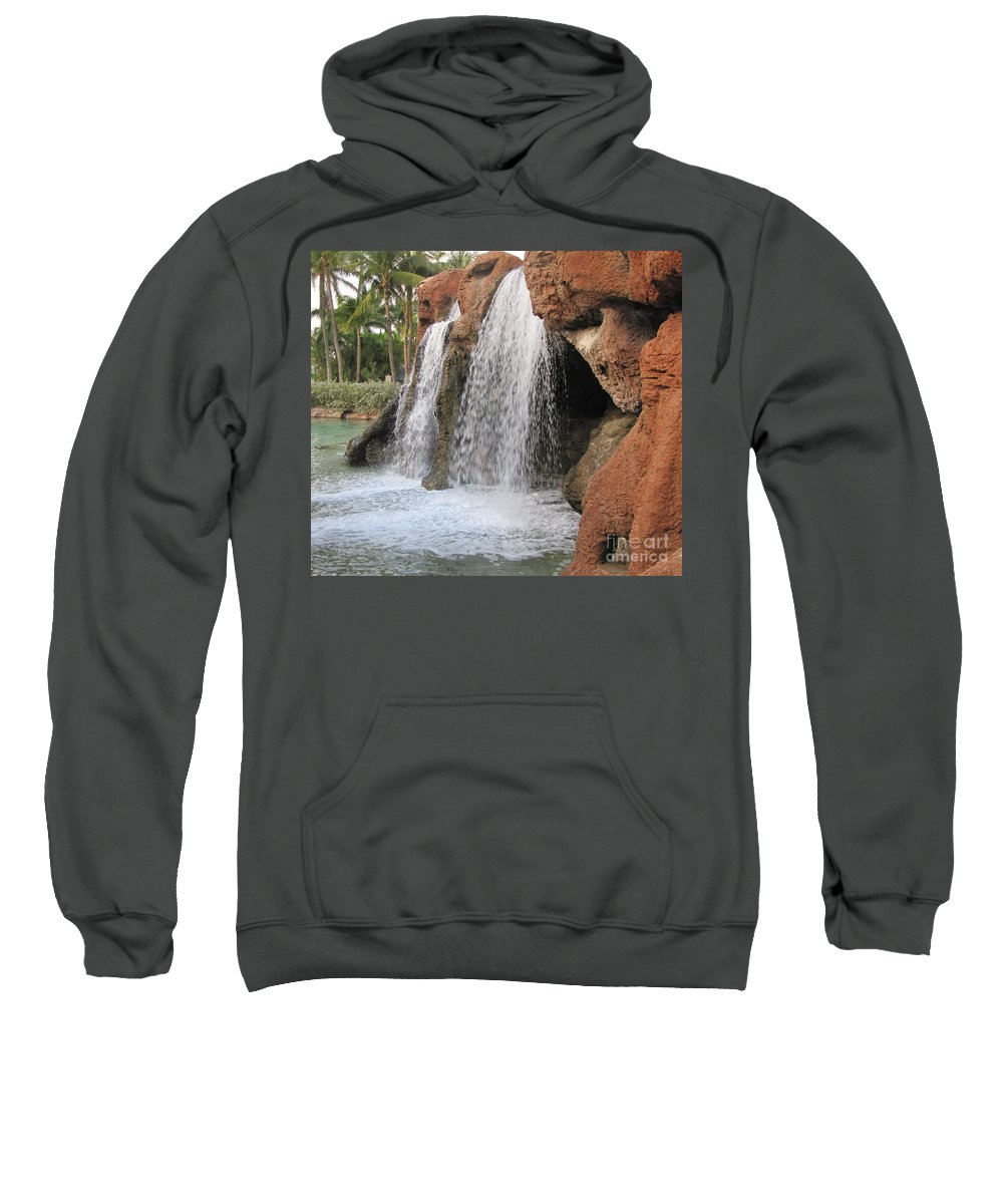 Waterfall Sweatshirt featuring the photograph Bahama Waterfall by Michelle Powell