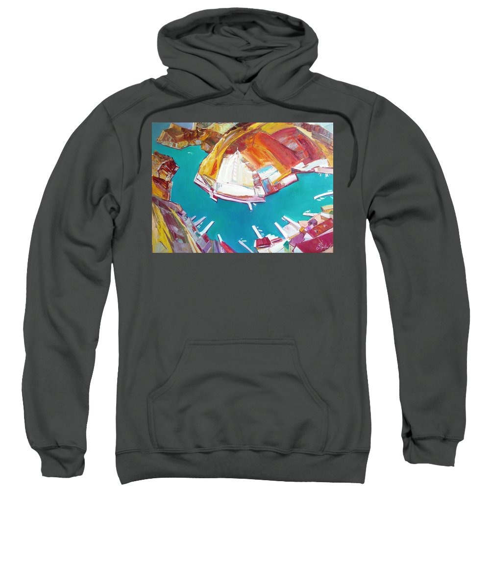 Ignatenko Sweatshirt featuring the painting Balaklaw Bay by Sergey Ignatenko