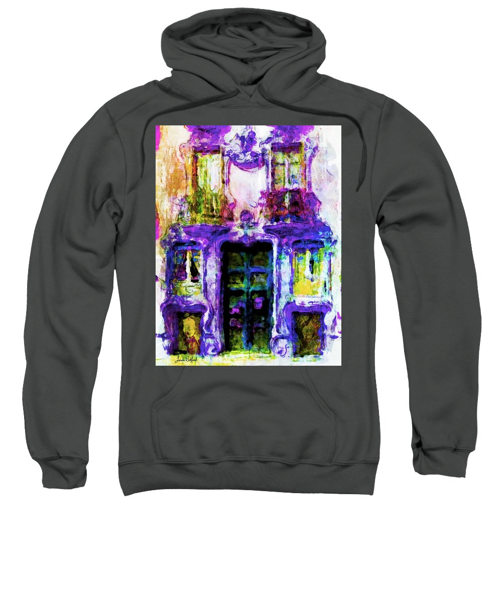 Balcony Sweatshirt featuring the painting Balcony Of Poets by Laura Botsford