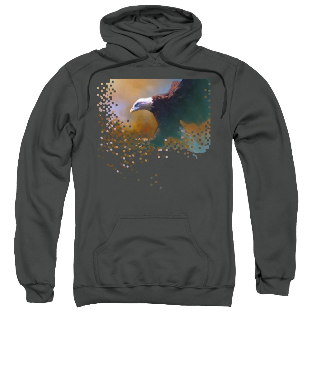 Eagle Sweatshirt featuring the photograph Bald Eagle Landing by Barbara Hymer