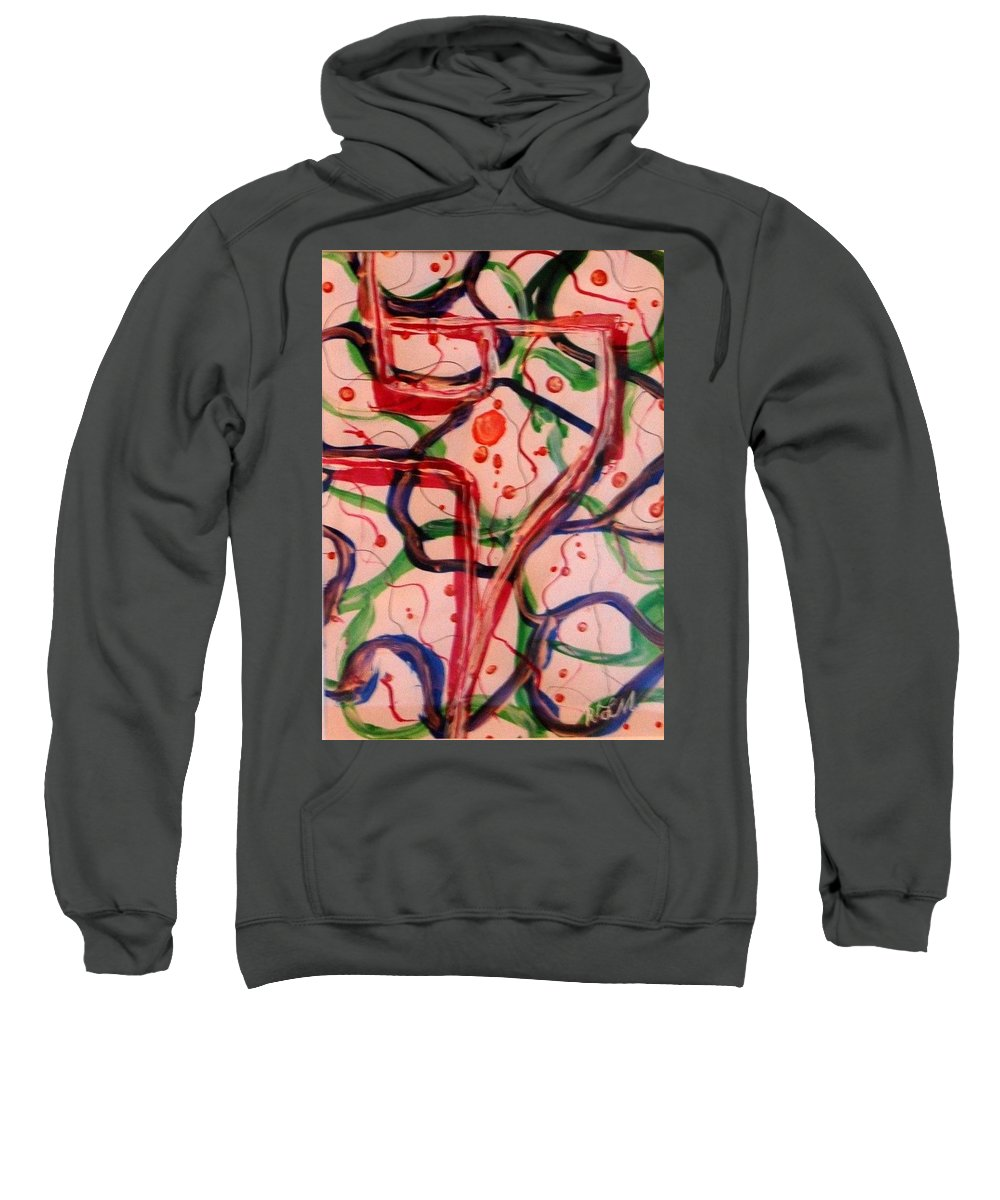 Abstract Sweatshirt featuring the painting Balloon Festival by Rita Lulay Malsch
