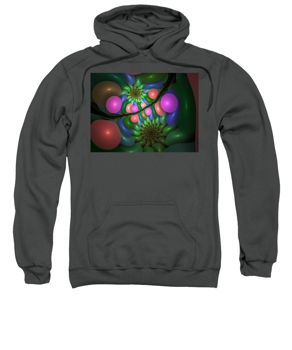 Fractal Sweatshirt featuring the digital art Balloonatic by Lyle Hatch