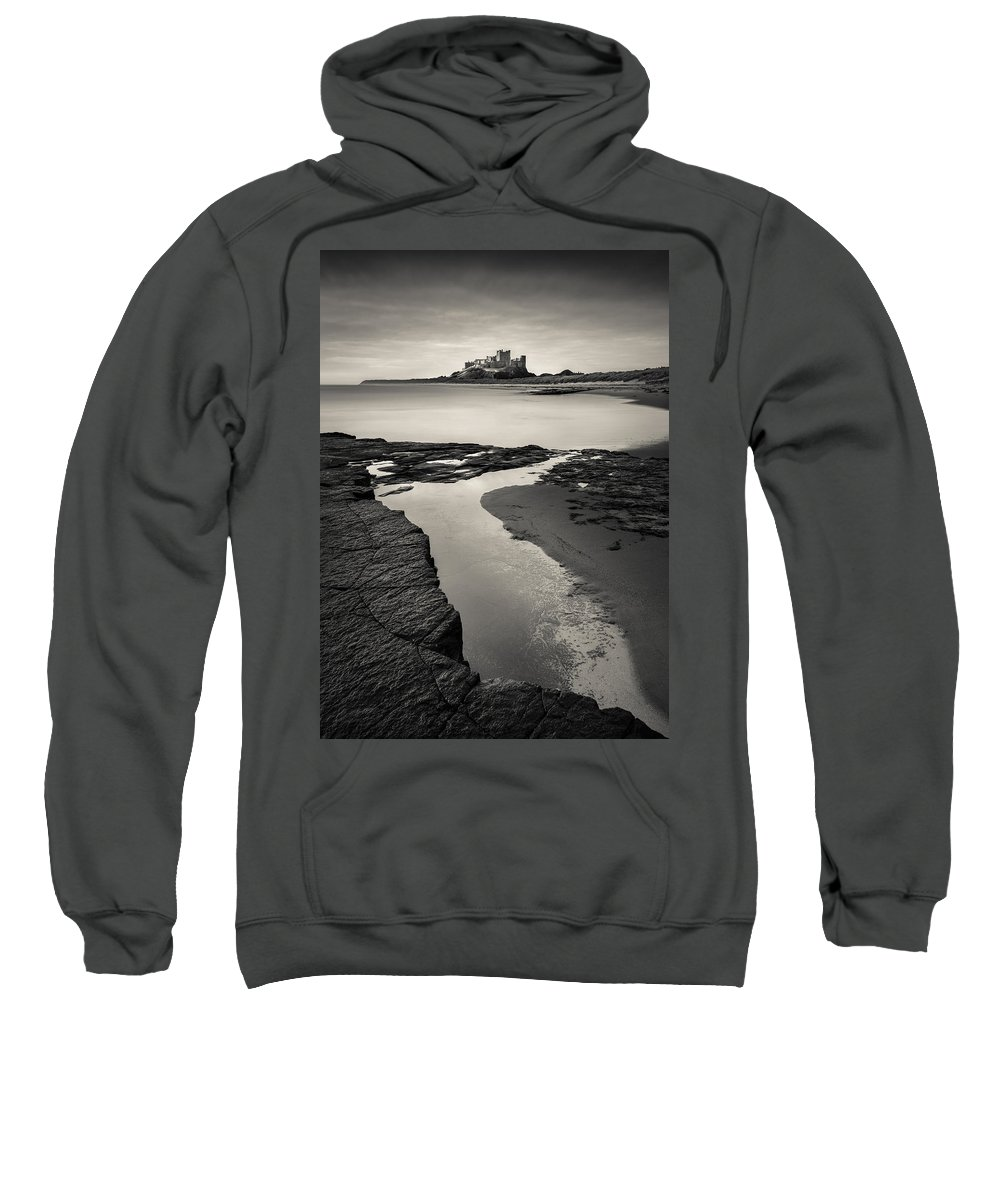 Bamburgh Castle Sweatshirt featuring the photograph Bamburgh Castle by Dave Bowman