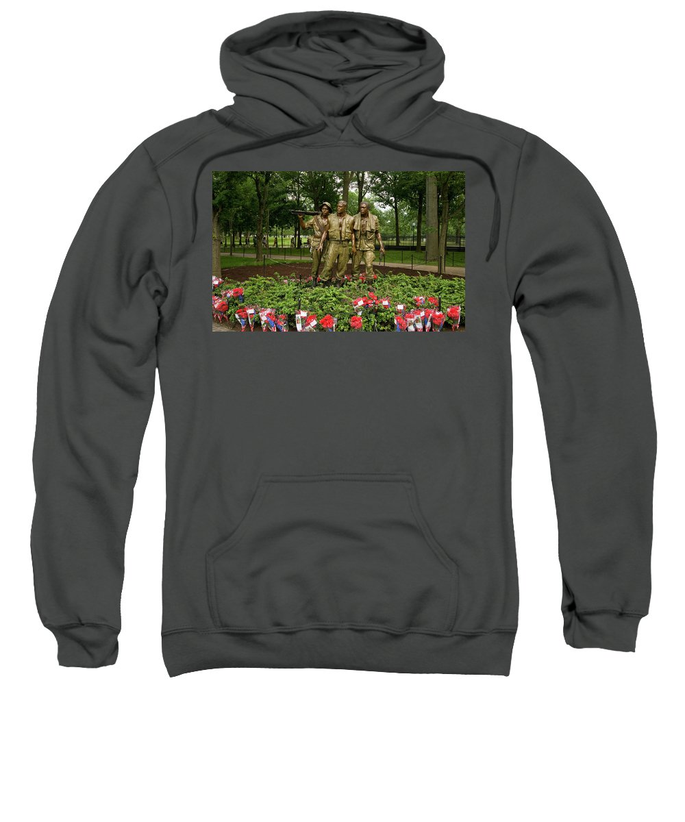 us Military Sweatshirt featuring the photograph Band Of Brothers by Paul Mangold