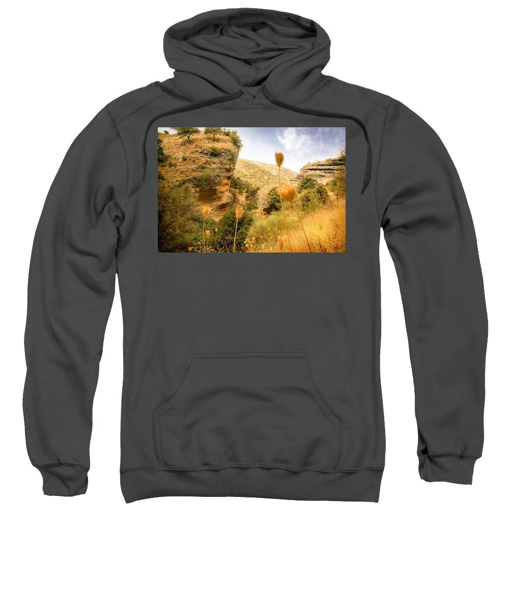 Spain Sweatshirt featuring the photograph Bandit Country Near The Edge Of The Fan In Ronda Area Andalucia Spain by Mal Bray