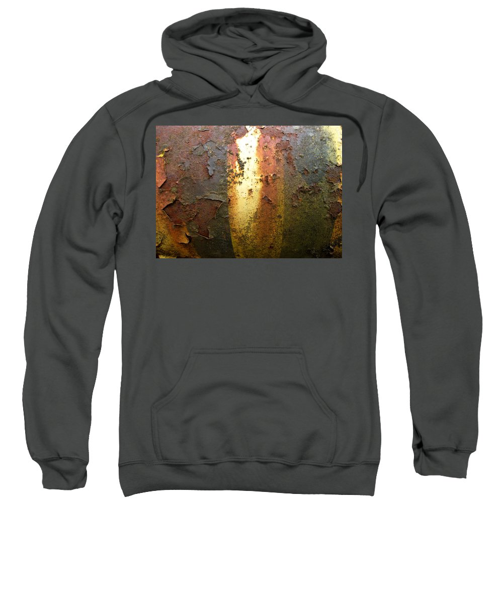Weathered Metal Sweatshirt featuring the photograph Bands Of Color by Elaine Booth-Kallweit
