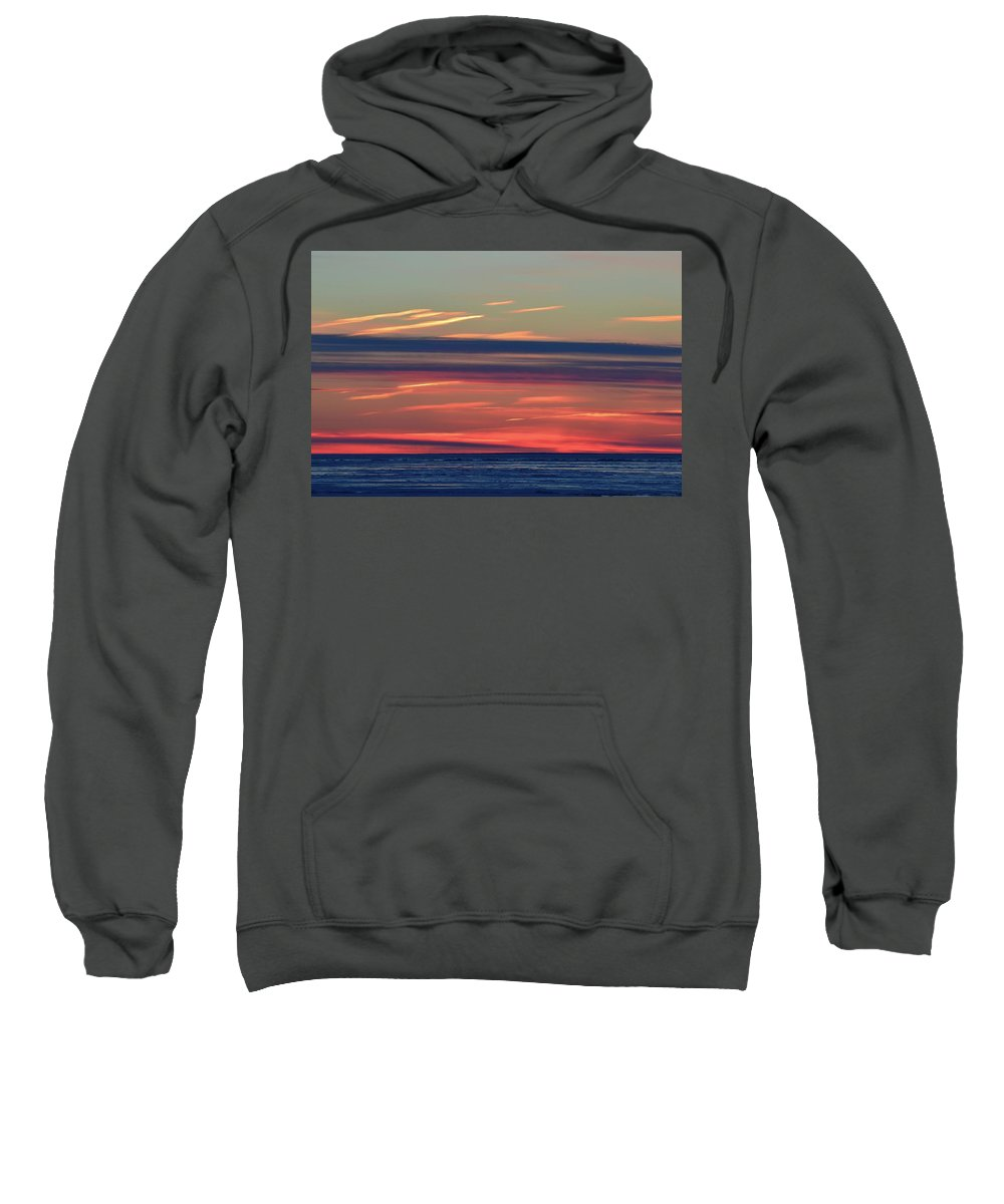 Abstract Sweatshirt featuring the photograph Bands Of Colour by Lyle Crump