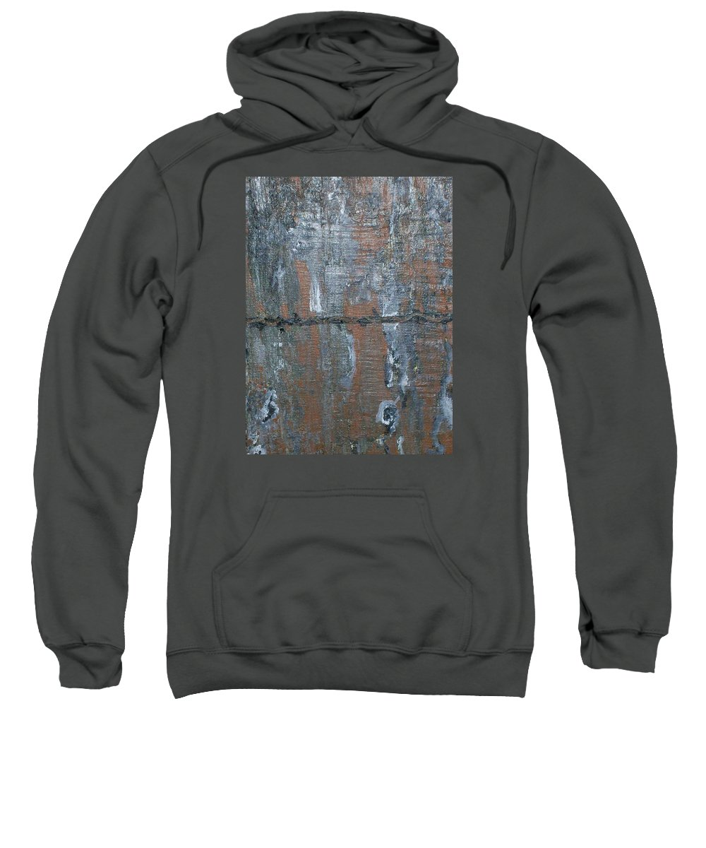 Drift Wood Sweatshirt featuring the painting Barb Wire by Roy Penny