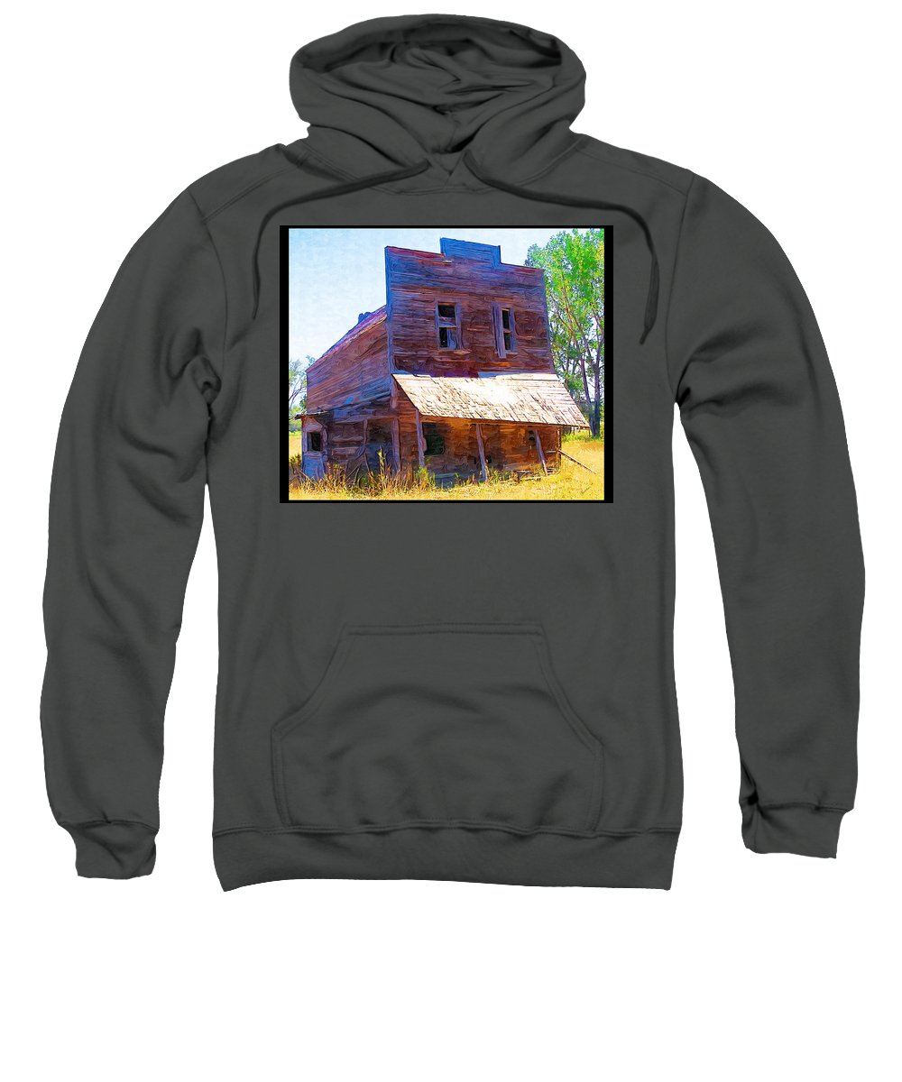 Barber Montana Sweatshirt featuring the photograph Barber Store by Susan Kinney
