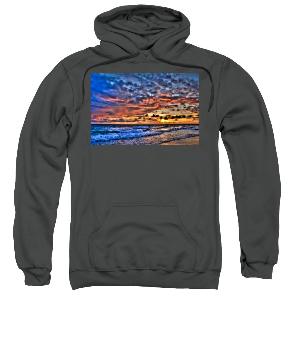 Sunset Sweatshirt featuring the photograph Barefoot Beach Sunset by Rich Leighton
