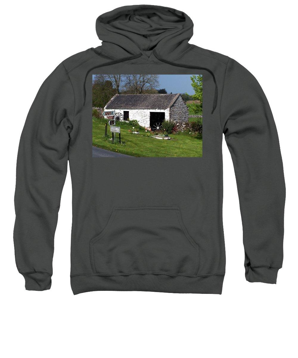 Ireland Sweatshirt featuring the photograph Barn At Fuerty Church Roscommon Ireland by Teresa Mucha