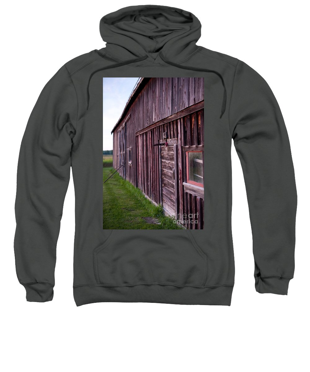 Rustic Sweatshirt featuring the photograph Barn Door Small by Steven Dunn