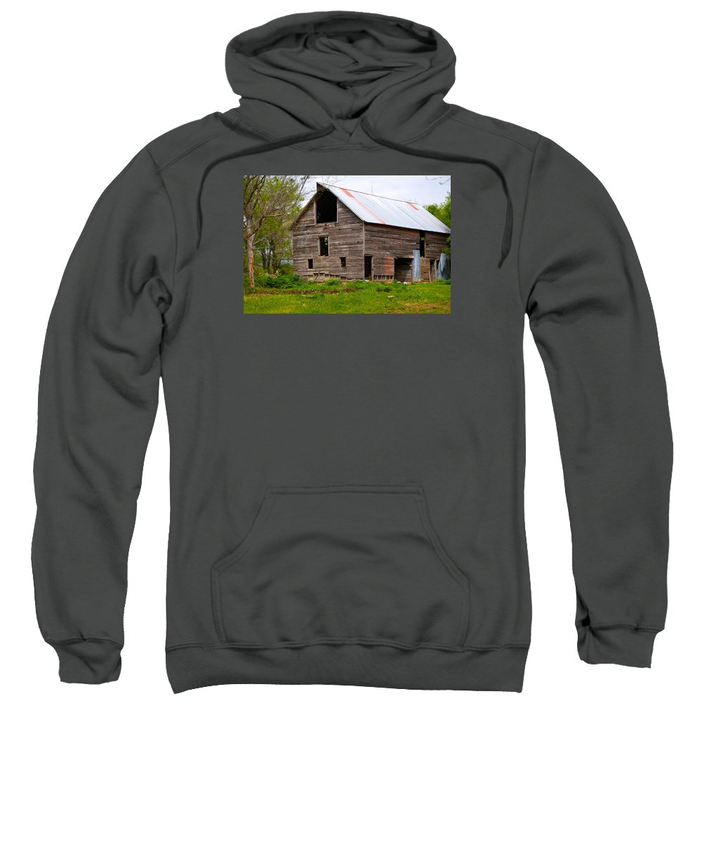 Old Barn Sweatshirt featuring the photograph Barn in 3D by Toni Berry