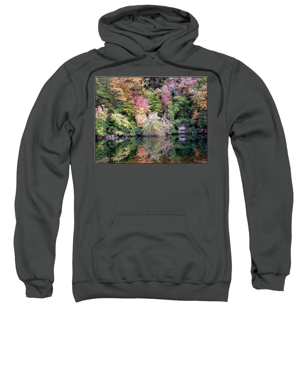 Nature Sweatshirt featuring the photograph Barn In The Mirror by Robert Meanor
