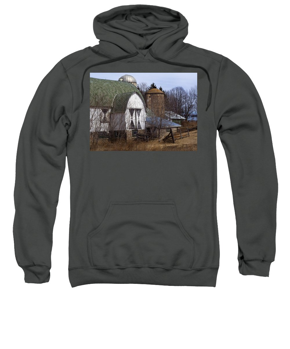 Barn Sweatshirt featuring the photograph Barn On 29 by Tim Nyberg