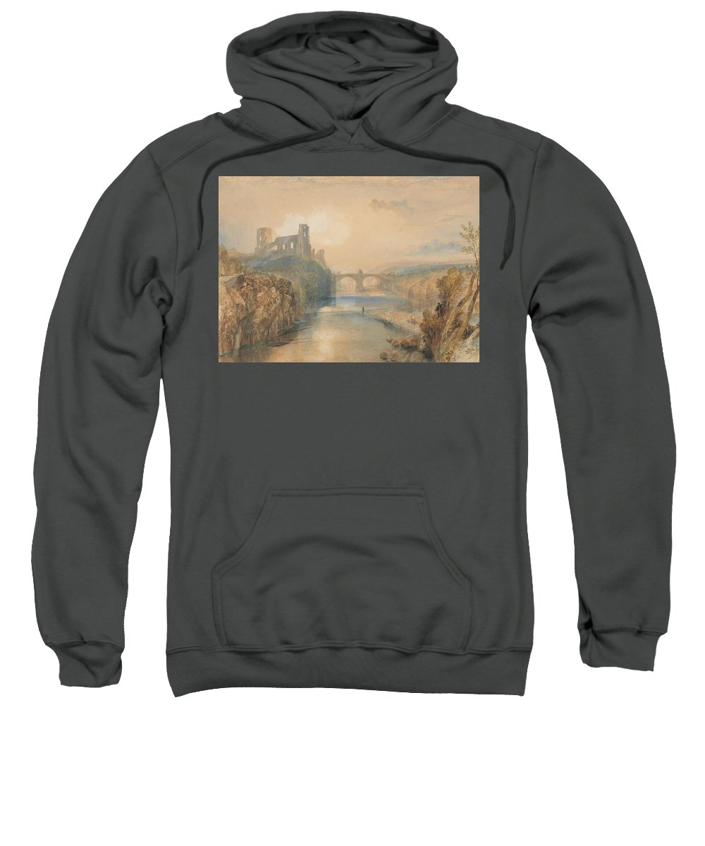 Barnard Castle Sweatshirt featuring the painting Barnard Castle by Grypons Art