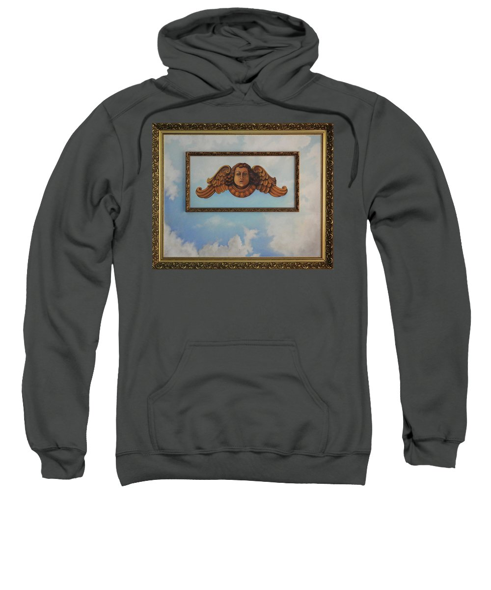 Baroque Sweatshirt featuring the painting Baroque Angel by Marian Fox