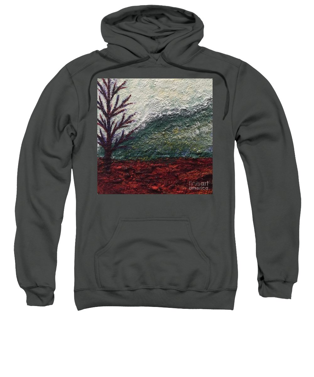 Landscape Sweatshirt featuring the painting Barren Landscapes by Emily Young