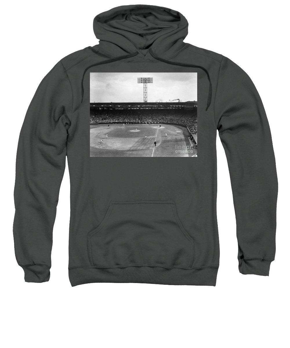 1956 Sweatshirt featuring the photograph Baseball: Fenway Park, 1956 by Granger