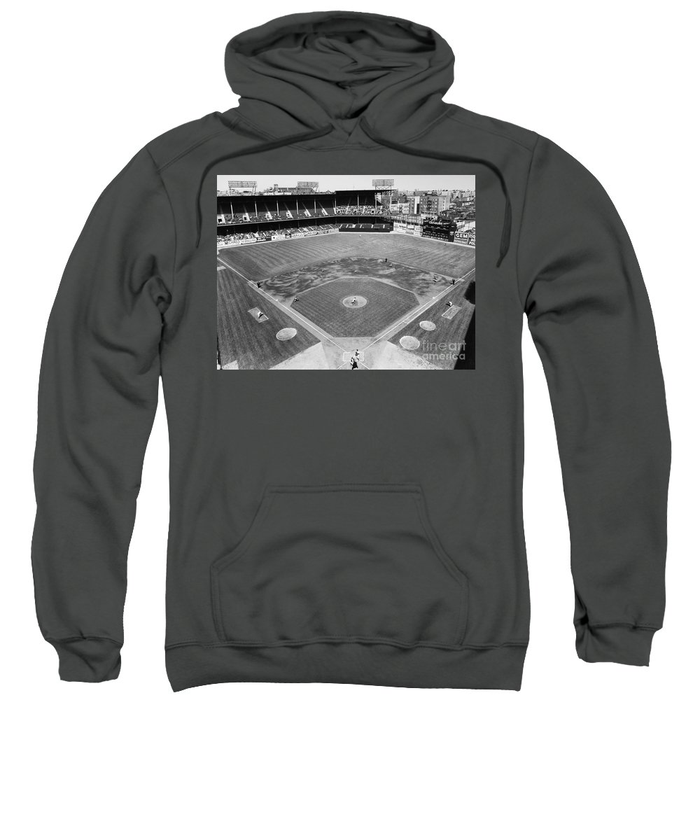 1953 Sweatshirt featuring the photograph Baseball Game, C1953 by Granger