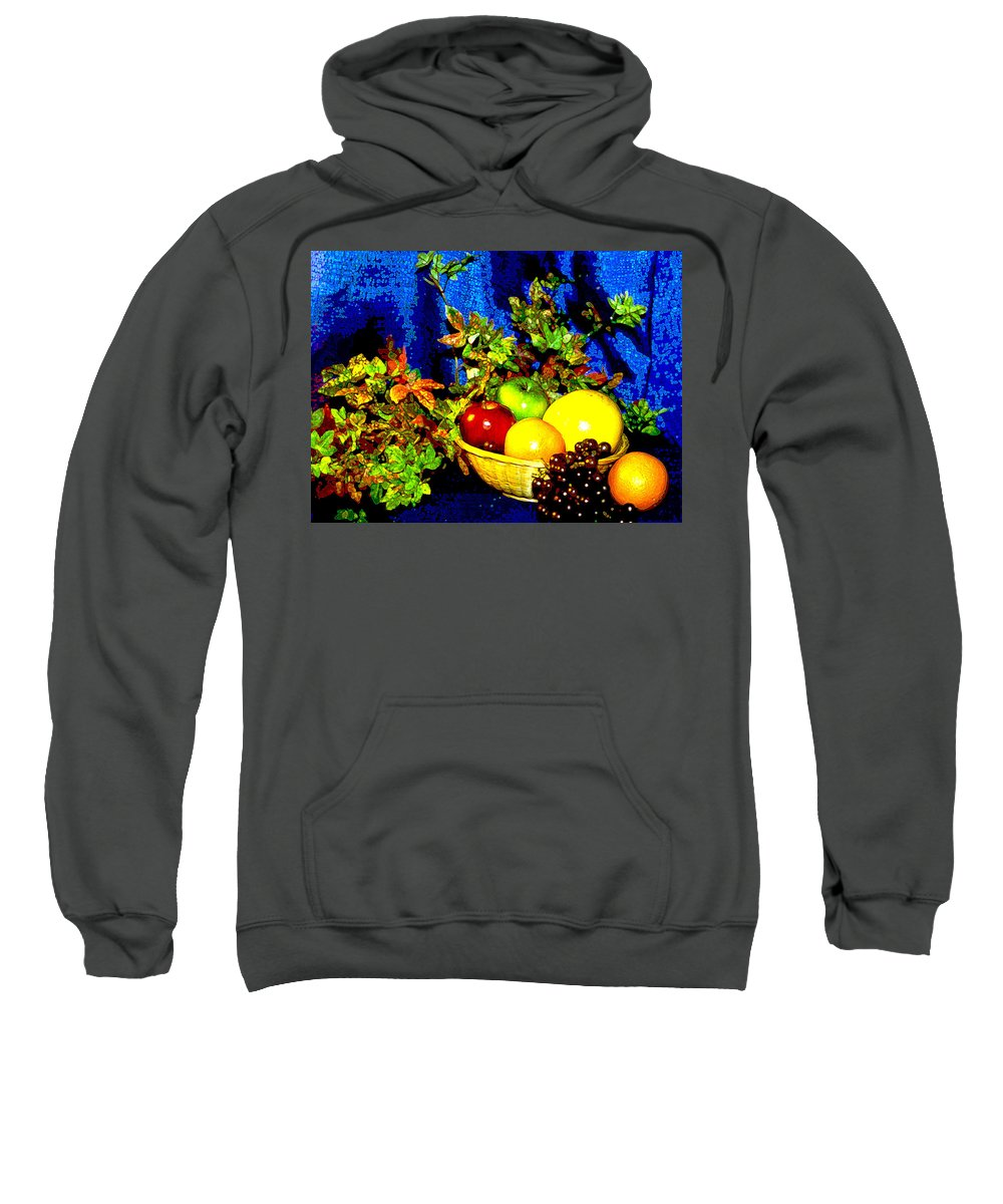 Fruit Sweatshirt featuring the photograph Basket With Fruit by Nancy Mueller