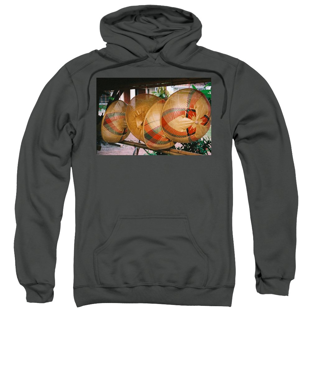 Baskets Sweatshirt featuring the photograph Baskets by Mary Rogers