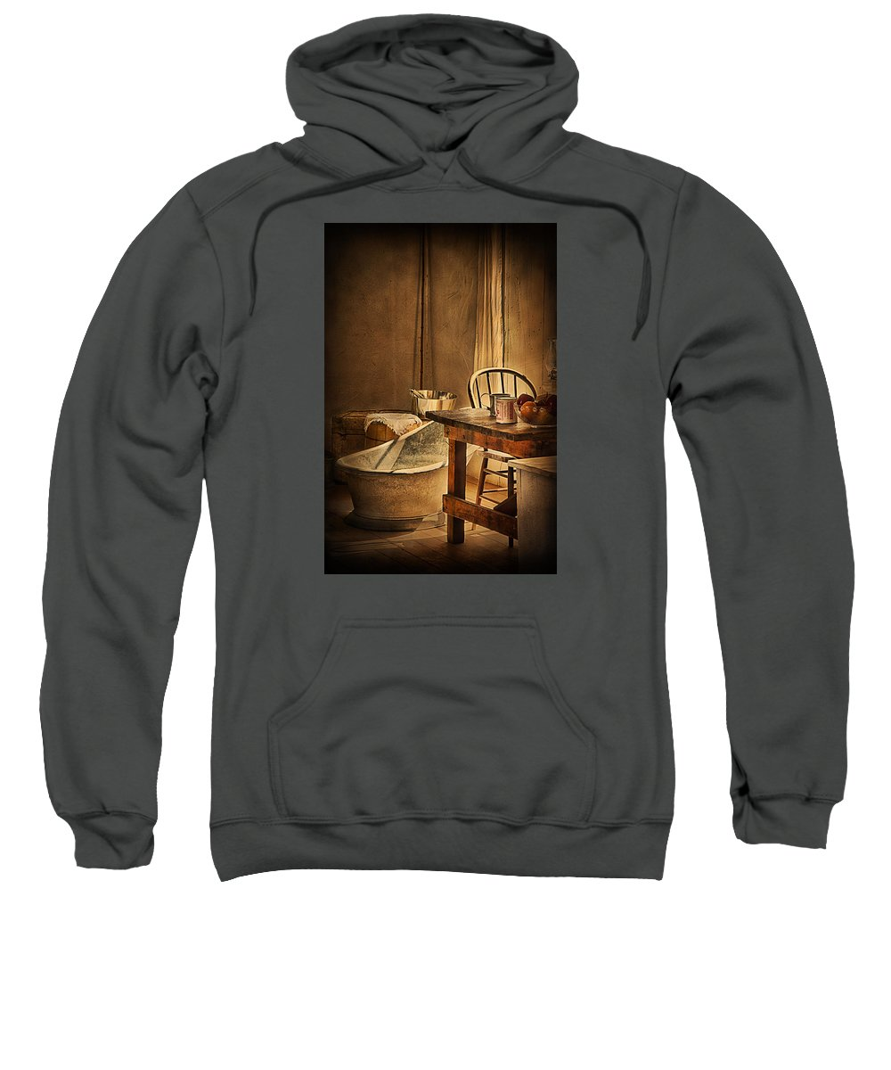 Fort Verde Sweatshirt featuring the photograph Bath Night At Fort Verde by Priscilla Burgers
