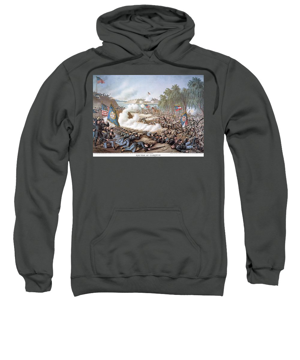 1862 Sweatshirt featuring the photograph Battle Of Corinth, 1862 by Granger