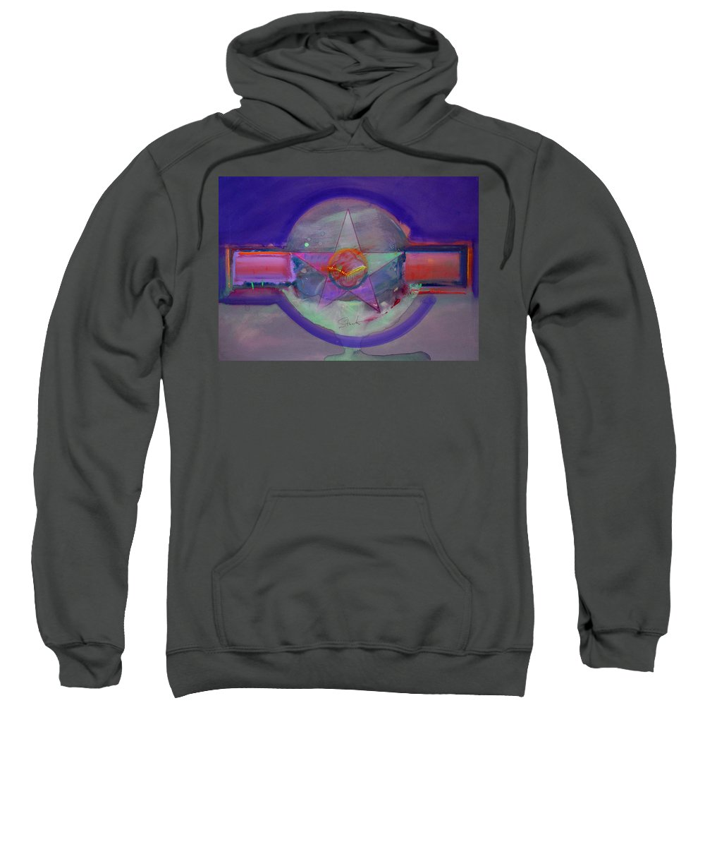 Usaaf Insignia Sweatshirt featuring the painting Battlefield by Charles Stuart
