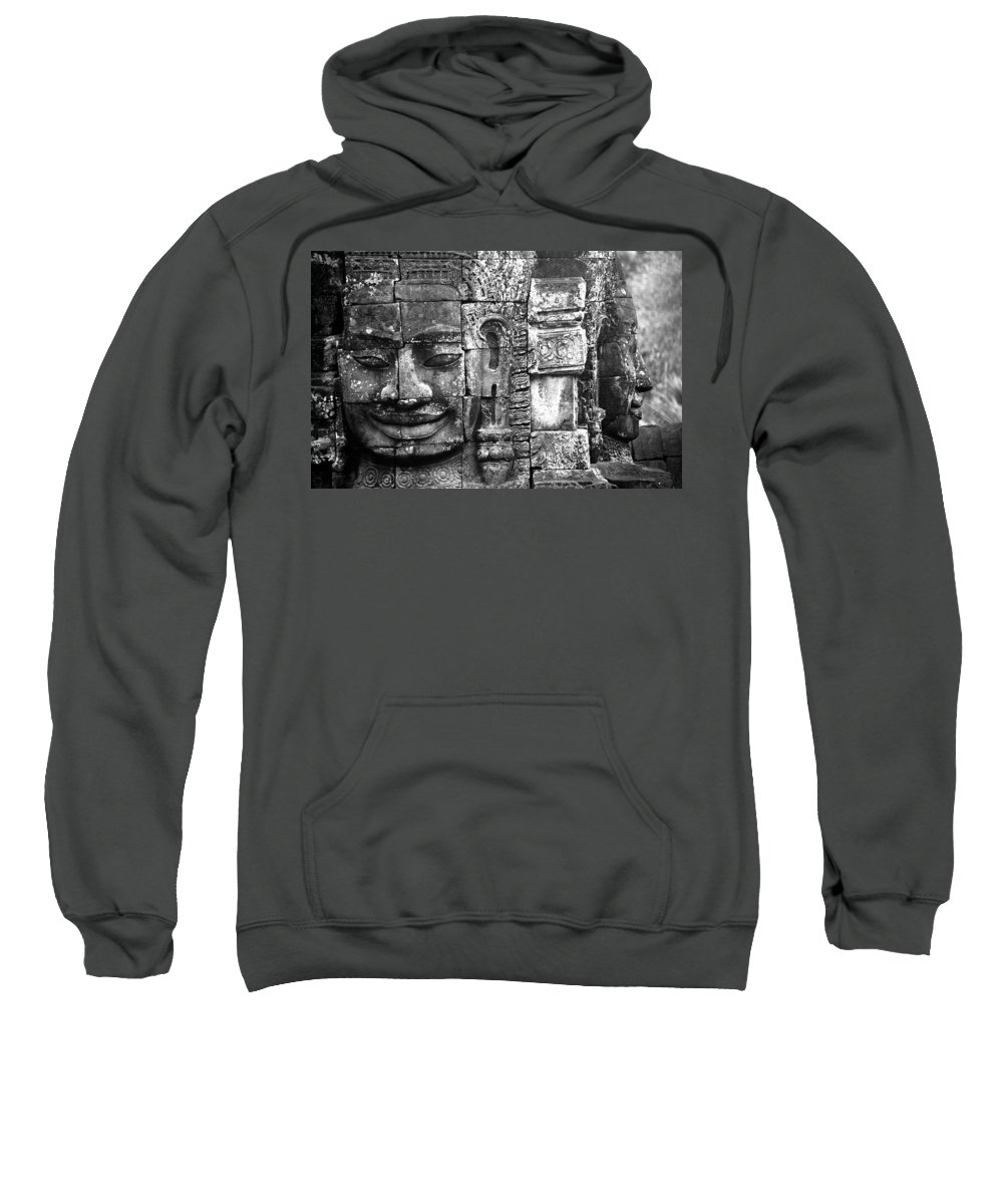Bayon Temple Sweatshirt featuring the photograph Bayon IIi by Patrick Klauss