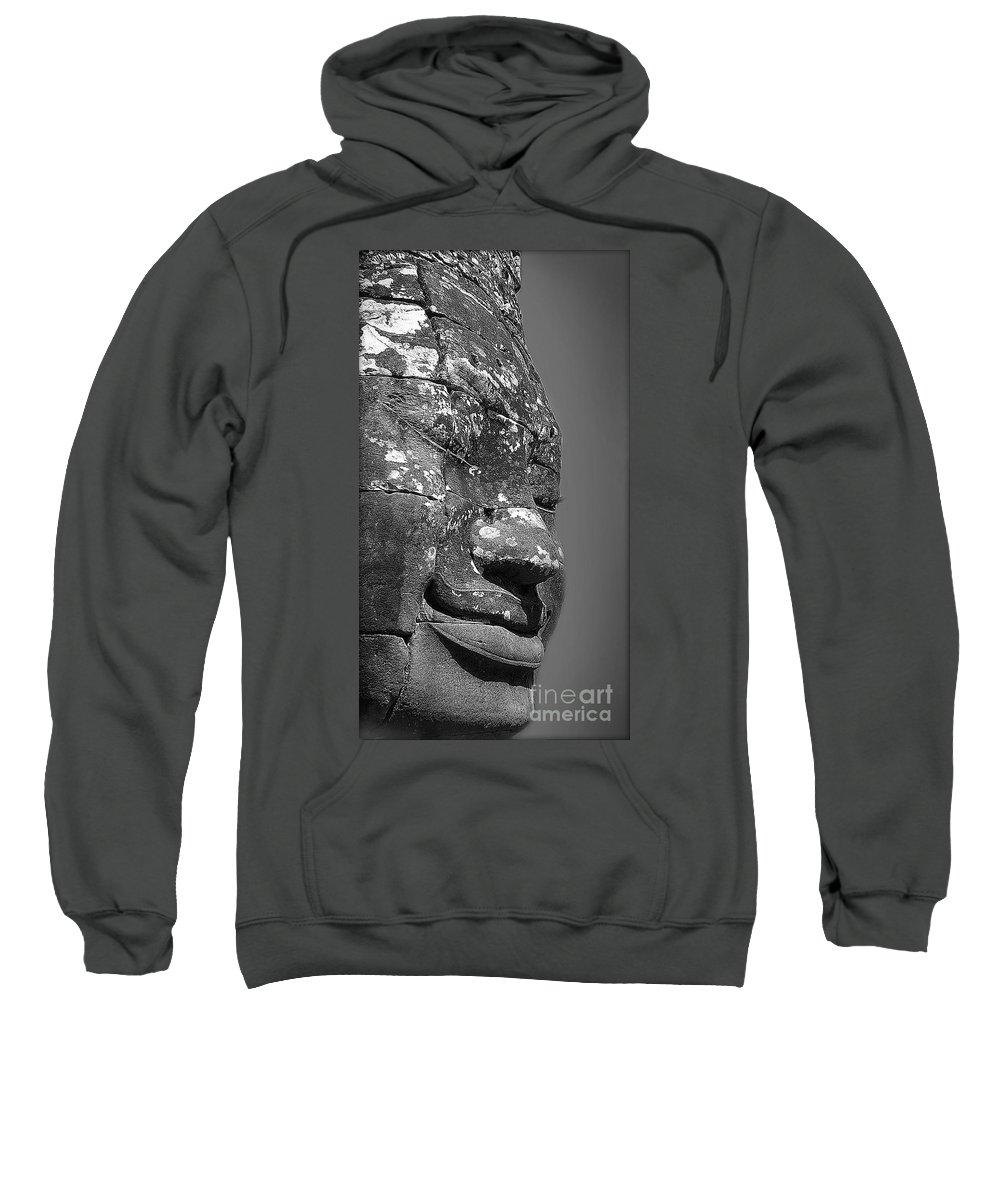Ancient Sweatshirt featuring the photograph Bayon by Eena Bo