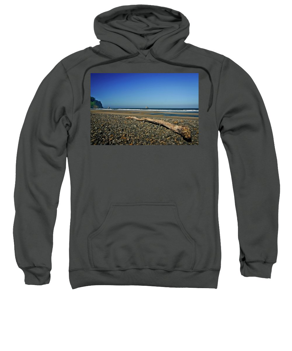 Driftwood Sweatshirt featuring the photograph Beach Driftwood by Albert Seger