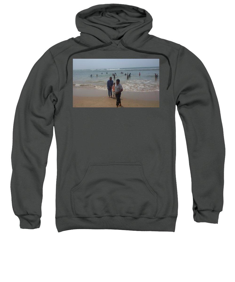 Sea Sweatshirt featuring the photograph Beach Front by Maraimalai K