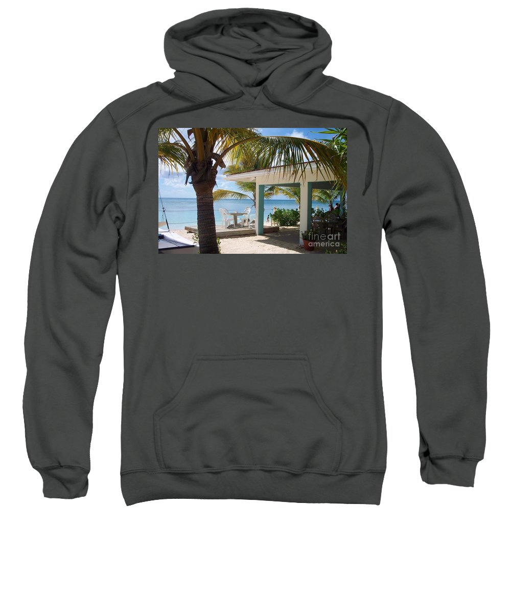 Beach Sweatshirt featuring the photograph Beach in Grand Turk by Debbi Granruth