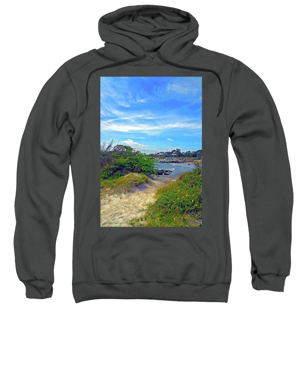 Sullivan's Island Sweatshirt featuring the photograph Beach Path Wisdom by Marie Hicks